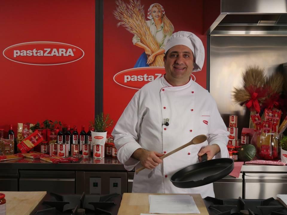 Riprese Show Cooking Testimonial Pasta Zara mercato estero