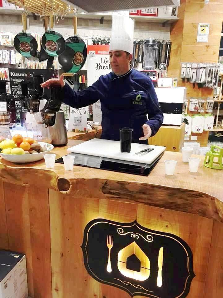 Show cooking Kuvings presso Smania idea casa